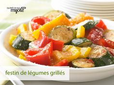 Légumes piquants grillés - Prenez quantité de courgettes et poivrons au marché, car voici une façon de les apprêter que vous adorerez!