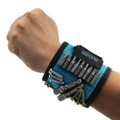 Magnetic Wristband BLENDX Magnetic Wrist Band Tool Belt with Super Strong Magnets for Holding Screws Nails Drill Bits Father Day Gift Tool Band for him men handyman Husband Father Guys DIY-er Cheap Fathers Day Gifts, Valentines Gifts For Him, Stiefvater, Unique Gifts For Men, Men Gifts, Small Gifts, Tool Band, Super Strong Magnets, Nail Drill