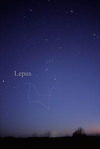 Lepus (constellation) - The Hare, also associated with legends of the Moon Rabbit