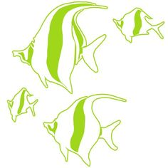 Fish Tank School of Fish Vinyl Decal Toilet Tattoo for your Tank | LilBitOLove - Housewares on ArtFire