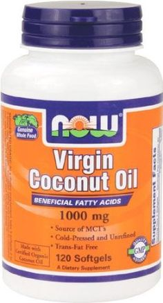 Amazon.com: NOW Foods Virgin Coconut Oil 1000mg, 120 Softgels: Health & Personal Care $8.99 http://www.amazon.com/gp/product/B0019LTJ7O/ref=as_li_ss_tl?ie=UTF8=1789=390957=B0019LTJ7O=as2=inthfaof-20