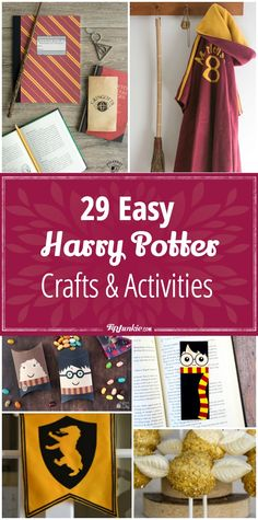 29 DIY Harry Potter Crafts & Activities via # harry potter diy gifts 29 Harry Potter Crafts & Activities [easy] Harry Potter Thema, Classe Harry Potter, Harry Potter Bookmark, Cumpleaños Harry Potter, Harry Potter Bedroom, Harry Potter Birthday, Harry Potter Things, Harry Harry, Harry Potter Enfants