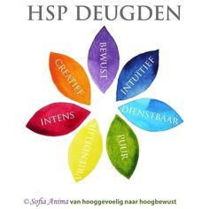 HSP deugden. #hsp #hooggevoelig #hoogsensitief #hoogbewust #talenten #kracht…
