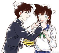Detective Conan Shinichi and Ran Detective Conan Ran, Detective Conan Shinichi, Ran And Shinichi, Kudo Shinichi, Magic Kaito, Otaku, Kaito Kid, Gosho Aoyama, Detective Conan Wallpapers
