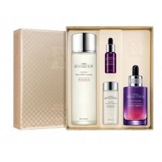 awesome Time Revolution Best Seller Special 4 Pcs Set_The First Treatment Essence & Night Repair New Science Activator Ampoule Korean Cosmetics Online, Korean Face, Cosmetic Shop, Korean Skincare Routine, Thing 1, Skin Mask, Skin Food, Beauty Box, Beauty