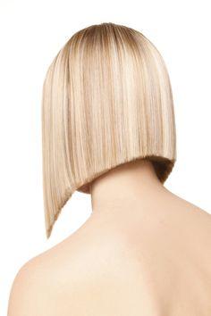Short Angled Hair, Angled Bobs, Bob Hairstyles, Straight Hairstyles, Blunt Hair, Blunt Bob, Hair Dye Colors, Good Hair Day, Shaved Hair