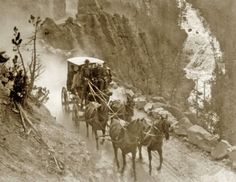 Stagecoach on the Virginia Cyn Road, Yellowstone - 1905
