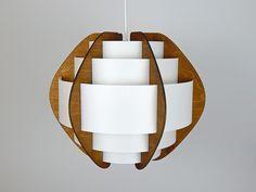 lamp of mine - lom1 Hängelampe Holz - Kirschbaum von lamp of mine auf DaWanda.com