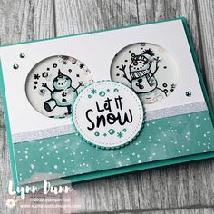 Let It Snow - 4 Snowman Season Card Ideas - . - Let It Snow – 4 Snowman Season Card Ideas – let # - Homemade Christmas Cards, Christmas Cards To Make, Christmas Wishes, Homemade Cards, Holiday Cards, Christmas Wedding, Stampinup Christmas Cards, Chrismas Cards, Prim Christmas
