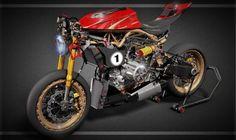 Alfa Romeo 1299 Birbante Cafe Racer design - Nandi Anirbaan #motorcycles #caferacer #motos   caferacerpasion.com