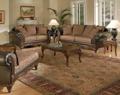 Serta Ronalynn Traditional Living Room Sofa Set w/ Carved Wood Trim Room Furniture Design, Home Furniture, Furniture Sets, Darby Furniture, Tuscan Furniture, Furniture Market, Coaster Furniture, Living Furniture, Furniture Stores