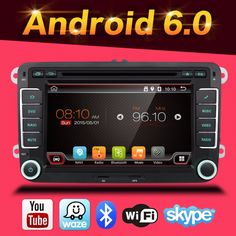 "7"" 2 Din Quad Core Android 6.0 Car DVD For Volkswagen VW golf touran passat B6 sharan jetta caddy transporter t5 polo tiguan gps"