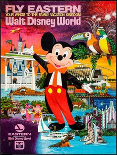 "Movie Posters:Miscellaneous, Fly Eastern to Walt Disney World (Eastern Airlines, 1970s). TravelPoster (30"" X 39.5""). Miscellaneous.. ..."
