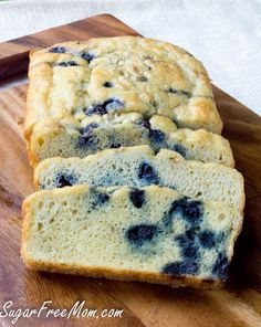 This Low Carb Blueberry English Muffin Bread Loaf is gluten free, grain free and perfect for an easy make ahead breakfast!
