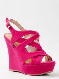 Qupid BIKINI-223 Strappy Wedge Sandals $31