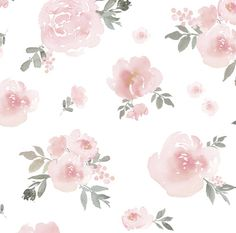Soft Pastel Watercolor Floral Mural Easy to Apply by wallpaperie