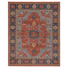 Capel Rugs Claudio Rust Navy Hand Knotted Wool Rug #laylagrayce