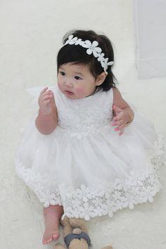 Set j-Baby Christening DressBonnetBloomerShortdress