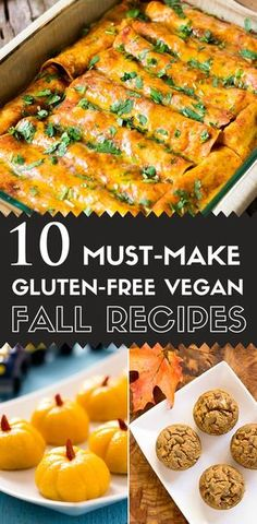 Here is a collection 10 of my favorite fantastic gluten-free vegan fall recipes that take advantage of the fall harvest, and that I hope you'll enjoy. via @lightorangebean