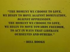 bell hooks.  Sounds like a great addition to wedding vows!