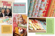 my fabrics in the latest issue of   Where Women Create magazine!