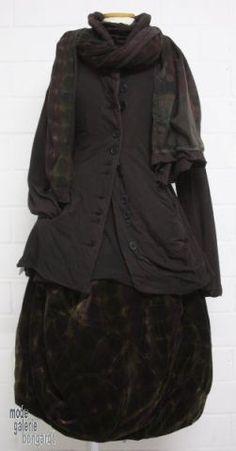 "www.modegalerie-bongardt.de - rundholz mode, rundholz black label, rundholz dip Rundholz black label Winter 2014, asym. Samt-Ballonrock ""print"" 660303/W14print"