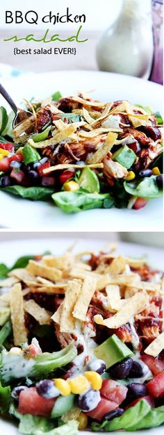 BBQ chicken salad re