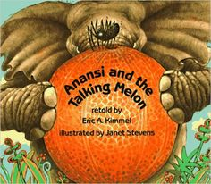 A clever spider tricks Elephant and some other animals into thinking the melon in which he is hiding can talk.