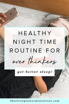 Have trouble falling asleep at night due to an over active mind? You are in the right place abou Night Time Routine, Evening Routine, Morning Routines, Daily Routines, Healthy Nights, Healthy Sleep, Trouble Falling Asleep, Help Falling Asleep, Bible Studies For Beginners