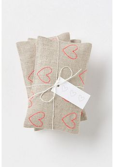 Rows of Roses Sachet ~ Place a few in your drawers — maybe even tuck one under your pillow.