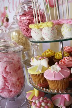 Little Big Company blog Vintage Pink and Lemon themed baptism by Life is Sweet Candy Buffet