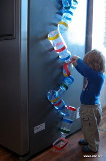 marble run from recycled bottles