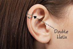 double helix piercing