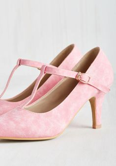 Reveal Your Forces Heel in Bubblegum. You have every right to keep these faux-leather heels as a secret to yourself, but theyre too stylish not to share with the world! #pink #wedding #modcloth