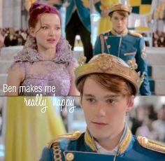 """Ben makes me really happy"" --- mal from disney descendants"