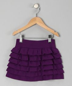 Purple Ruffle Tiered Skirt