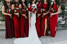 Bridesmaid dresses for red, green and white wedding wedding colors Gorgeous Red, Green and White December Wedding Color Ideas December Wedding Colors, Boho Wedding, Dream Wedding, Geek Wedding, Ruby Wedding, Gothic Wedding, Perfect Wedding, Red Bridesmaids, Green Wedding Shoes