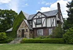 tudor style house | This Tudor Revival style house, located at 374 Adams Street, was built ...