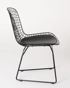 Milano Republic Furniture   Replica Harry Bertoia Bird Chair Black  Powdercoated With Black Cushion , $99.00