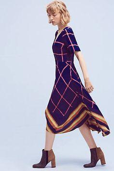 Striped Pane Midi Dress