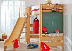 Rutsche Für Etagenbett : Hochbett mit rutsche einrichtungsideen für kinderzimmer