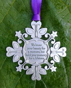 Snowflake Ornament to Remember Miscarriage or Child Loss