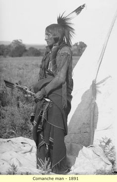 An old photograph of the Native American known as Eagle Tail Feather aka - Quassyah - Comanche Native American Photos, Native American Tribes, Native American History, American Indians, American Symbols, American Women, Comanche Indians, Comanche Tribe, Comanche Warrior