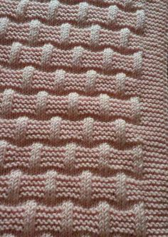 Lattice with seed stitch - Square knitting pattern Baby Knitting Patterns, Knitting Stiches, Knitting Charts, Easy Knitting, Knitting Designs, Knitting Projects, Stitch Patterns, Crochet Patterns, Seed Stitch