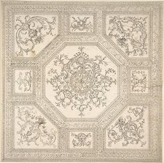 Anonymous, British, 18th century | Palladian Ceiling Design | The Met