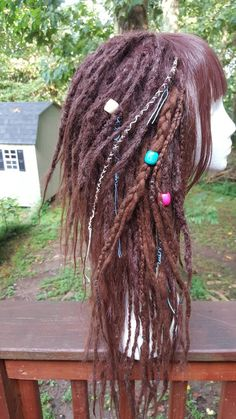 Dark Auburn Dreadlock Wig  Custom Wig  Dreads  by SisterSarahsShop