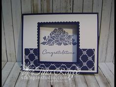 Watch it Wednesday:Floral Phrases Window Card - Stampin' Studio