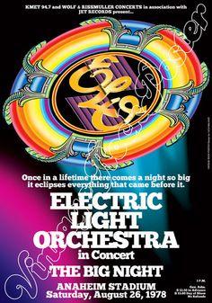 715  ELECTRIC Light Orchestra  ELO  Anaheim by Mokusaiya on Etsy