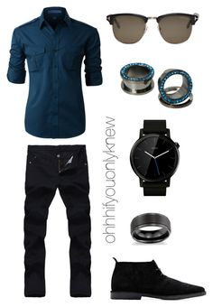 A fashion look from August 2017 featuring steel jewelry, mens straight leg jeans and mens long sleeve work shirts. Browse and shop related looks. Queer Fashion, Androgynous Fashion, Tomboy Fashion, Tomboy Style, Androgyny, Girl Fashion, Lesbian Outfits, Tomboy Outfits, Cool Outfits
