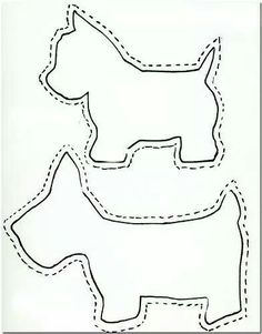 Scottie dog pattern. Use the printable outline for crafts